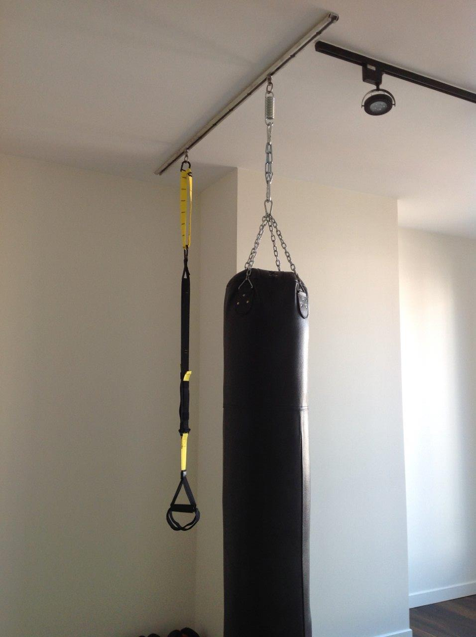 tuffrail collection » heavy bag - overhead homes » trx & heavy bag