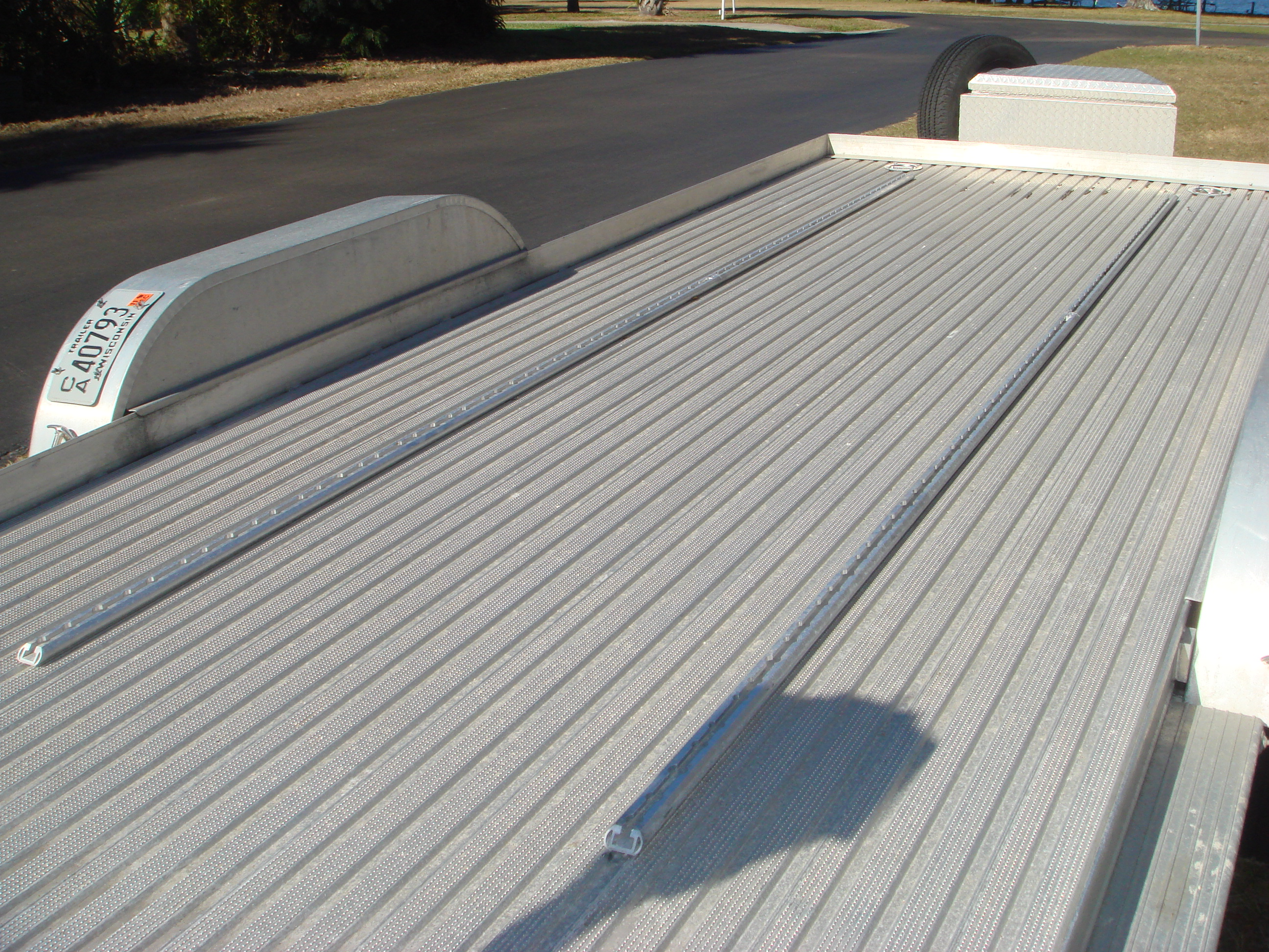 Flatbed Aluminum Flooring : Tuffrail collection open trailer