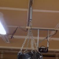 A pleased customer sent us this picture of his overhead rail in his garage.
