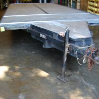 """""""King of the road"""" flatbed trailer."""