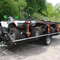Three ATV's locked down using TuffRail