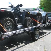 Two ATV's rear loaded